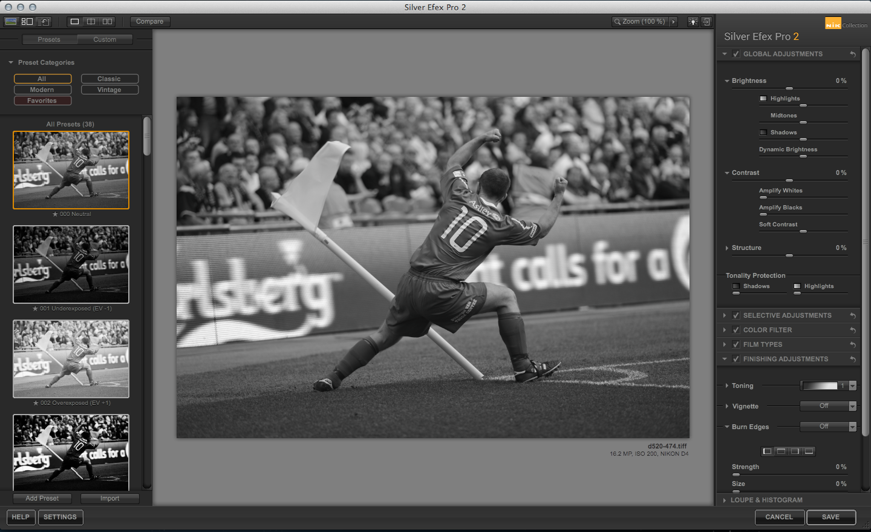 Silver Efex Pro Tri-X preset