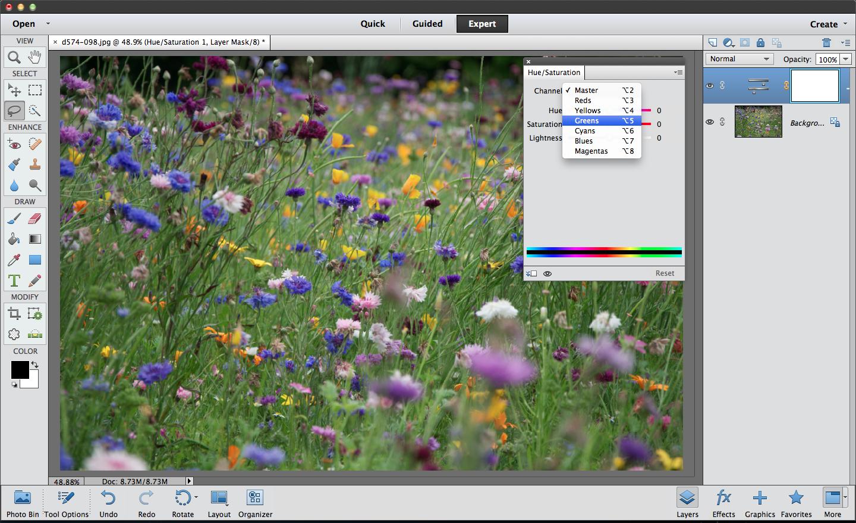 Elements colour enhancement