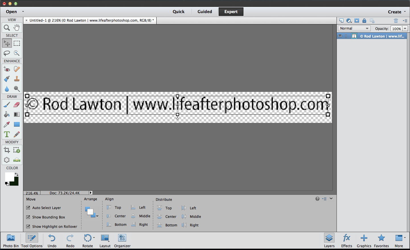 Aperture export with watermark