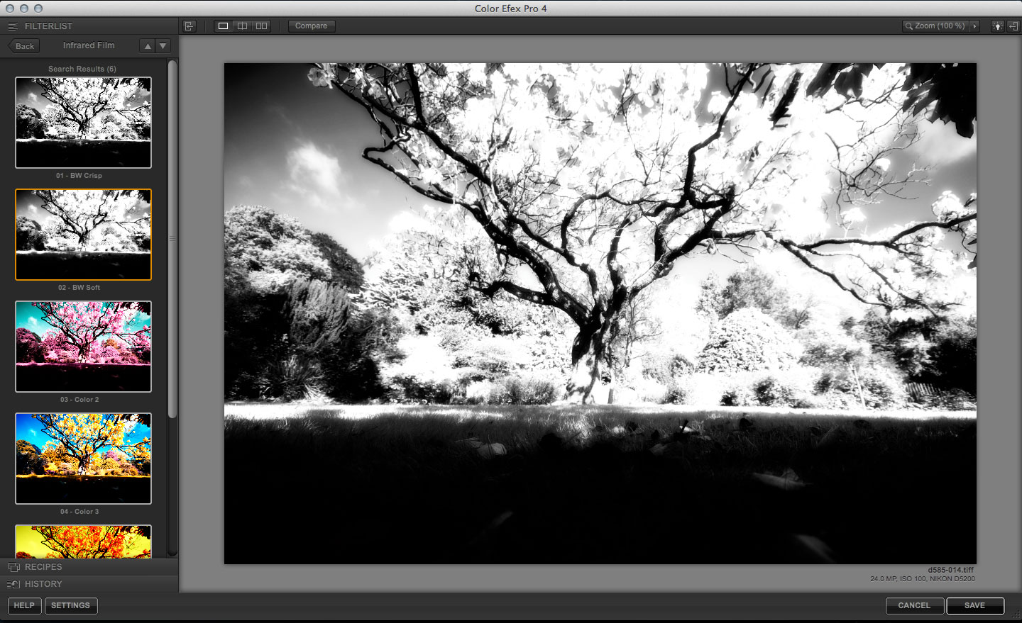 how to use infrared film