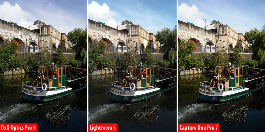 DxO vs Lightroom vs Capture One