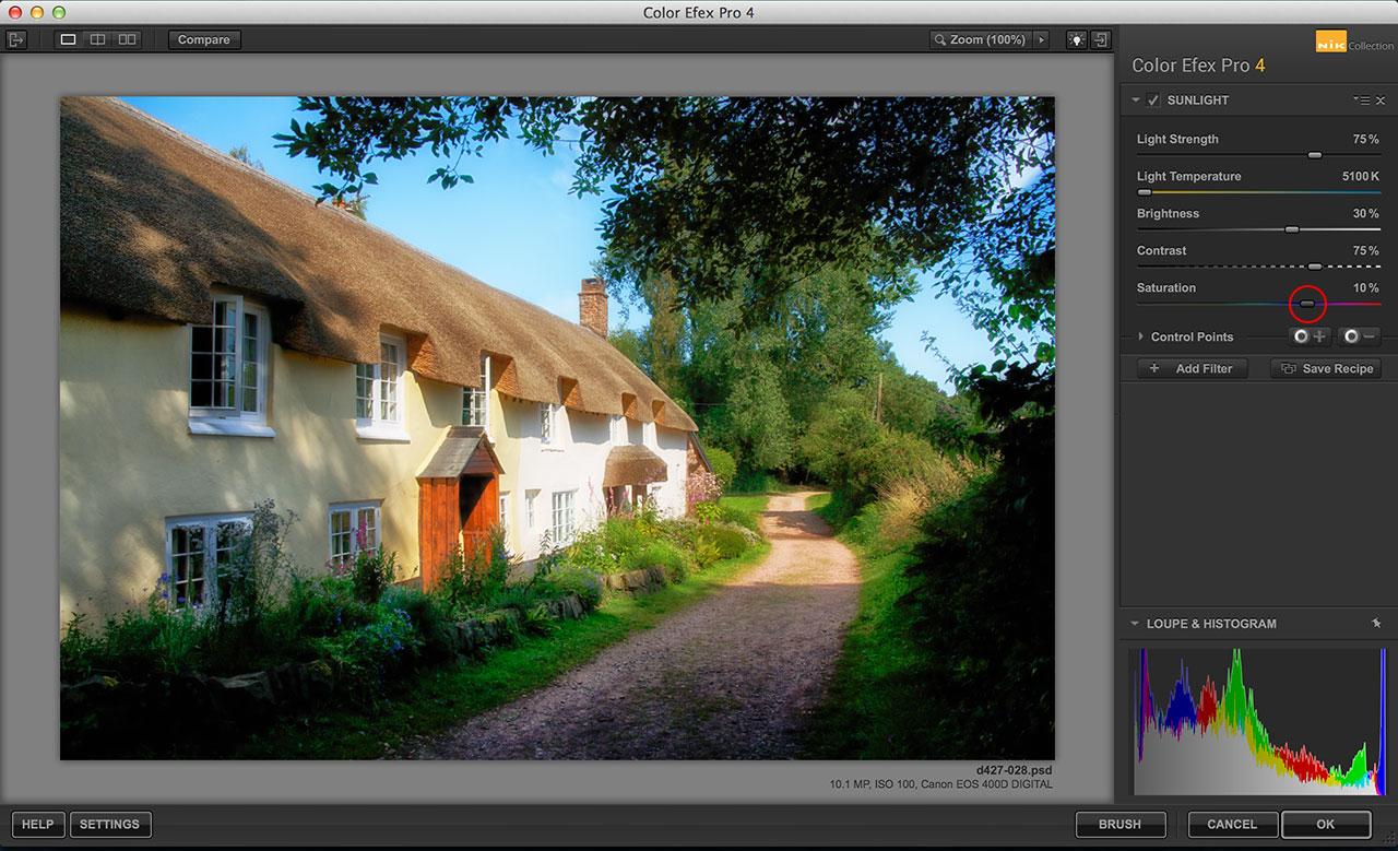 Color Efex Pro Sunshine filter