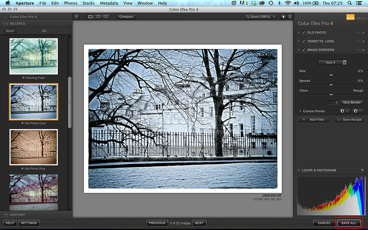 Color Efex Pro batch processing